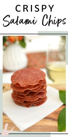 This baked salami chip recipe makes the perfect party snacks Appetizers For Kids, Easy Appetizer Recipes, Easy Snacks, Quick Easy Meals, Keto Snacks, Wine Appetizers, Salami Chips Recipe, Salami Recipes, Nye Recipes