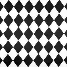 White/Black Harlequin Matte Satin Fabric - Image 1