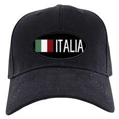 size 40 e1a2b c3bb2 Italy  Italia  amp  Italian Flag Baseball Hat on CafePress.com Cotton  Canvas,