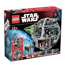Recreate the action and adventure of the Star Wars movies with the ultimate Death Star playset! This detailed battle station features an incredible array of minifigure-scale scenes and accessories from Episodes IV and VI on its five decks, including the Death Star control room, moving turbolaser turrets, hangar bay with TIE Advanced starfighter, tractor beam controls, Emperor's throne room, detention block, Imperial conference room, droid maintenance facility, and the powerful Death Star…