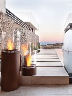 Bioethanol #outdoor #fireplace LIGHTHOUSE by EcoSmart Fire: nice!