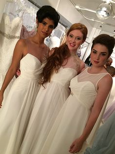 Our beautiful Greek goddess bridesmaids before their walk down the runway. #AngeloAccess