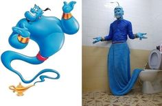 All of your wildest desires will be granted to you. Just rub the toil– er… lamp. | The 20 Worst Damn Cosplays You've Ever Seen