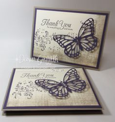 Timeless Textures card with Butterflies Thinlits video (Dawn's Stamping…