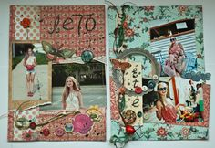 Two scrapbook pages about summer