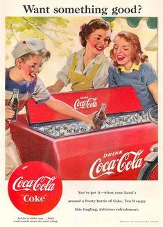 Coca-Cola Coke Icebox 1951 - www.MadMenArt.com   Coca-Cola is more than a brand…