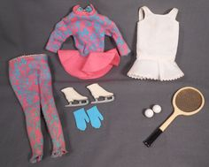 HTF Vintage Barbie FRANCIE'S SPORTIN' SET #1044 JC Penney Exclusive 1966!