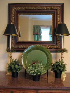 Simple, but beautiful.  Mirrors can do so much to open up a space..... let your imagination go...