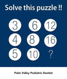 Can you solve this puzzle?!   Palm Valley Pediatric Dentistry