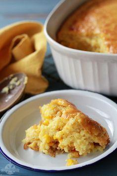 This easy Sweet Corn Spoonbread is a favorite at our house.  It's another one of those dump, stir, and pour recipes that we all love, but it tastes like so much more!