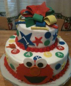 Elmo birthday cake By MRMonroe on CakeCentral.com