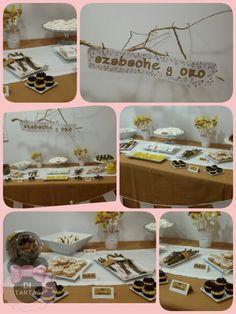 Mesa dulce azabache y oro