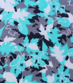Anti-Pill Fleece Fabric Leaf Camo