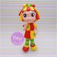 Miniatura Emília - Sítio do Pica-Pau Amarelo - Festa Infantil - Paty's Biscuit