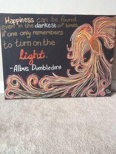 Harry Potter Phoenix Dumbledore Quote Canvas by CharmAndTradition, $50.00