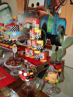 Disney Pixar Car Theme Birthday Party | CatchMyParty.com