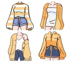 Drawing Anime Clothes, Manga Clothes, Art Drawings Sketches Simple, Cute Drawings, Fashion Illustration Dresses, Clothing Sketches, Fashion Design Drawings, Kawaii Clothes, Character Outfits