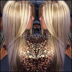 This is the perfect combo of dark blonde & platinum