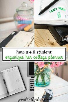 School organization college planner organisation new ideas College Binder, College Hacks, College Fun, Education College, Physical Education, College Checklist, College Dorms, Best Planner For College, School Hacks