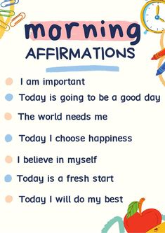 Positive Quotes For Life Encouragement, Positive Quotes For Life Happiness, Positive Affirmations For Kids, Positive Affirmations Quotes, Morning Affirmations, Affirmation Quotes, Affirmations For Success, Positive Education Quotes, Affirmation Examples