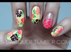 How gorgeous are these spring inspired nails