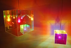 Cube miroir Suspension by Designheure £141 I like the colours, so fun and vibrant!