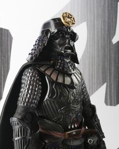 Here's a great figure for fans of Star Wars featuring Darth Vader as a very cool dark samurai. He is dressed in traditional samurai armor instead of his futuristic suit but he still keeps his light saber which is now a light katana. Date Masamune, Boba Fett, Lightsaber Parts, Statues, Darth Vader Figure, Figurine Star Wars, Star Wars Painting, Samurai Armor, Shadow Warrior