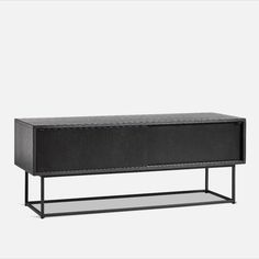 VIRKA - WOUD | The elegant sideboard is designed with sliding doors so it will never take up unnecessary space in your room. The strong geometrical frame elegantly lifts the sideboard above the floor and adds lightness to the design. Inside the Virka sideboard has one adjustable shelf in each side with room to let cables pass out the back making the design both functional and minimalistic. Rooms To Let, Design Language, Adjustable Shelving, Sliding Doors, Sideboard, Shelf, Minimalist, Strong, Flooring