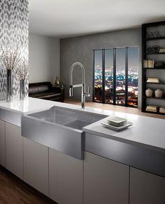 I like big sinks and I cannot lie... big beautiful, modern, and surgical grade steel sink
