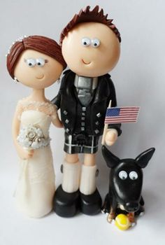 Bride and Groom personalized wedding cake topper by Googly Gifts wedding cake toppers   Hatch.co