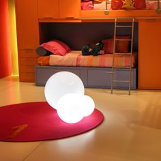 Globo 40 Medium Light now featured on Fab. SlideFurniture As Light Source? Indeed.  Lighting alone is not enough. Italian-based Slide creates unique décor items that are also light sources—a bright idea if there ever was one. Using a minimum of wiring, these items are simple to install, assume basic forms that don't take themselves too seriously, and are awfully cute and unique.