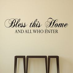 Bless this Home - Wall Decal