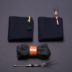 What an amazing tweed and wood bow tie by Vanities Paris | www.lenoeudpapillon.fr