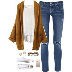 A fashion look from October 2015 featuring Citizens of Humanity jeans, Converse sneakers and Hermès earrings. Browse and shop related looks.