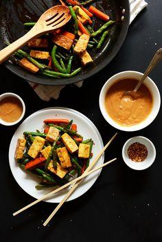 Easy Tofu Stirfry  + how to make tofu taste good! | minimalist baker