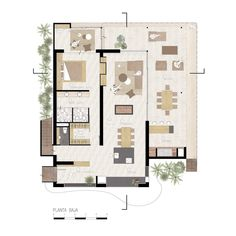 Image 24 of 28 from gallery of Refurbishment of Alta Vista House / Choza. Autocad, Vista House, Plant Drawing, Forest House, House Plans, Floor Plans, Layout, Architecture, Gallery