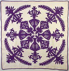 Hawaiian Applique Quilt: Circa 1930 at Stella Rubin Antiques