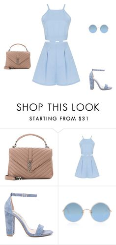 """""""Untitled #9014"""" by explorer-14576312872 ❤ liked on Polyvore featuring Yves Saint Laurent, Steve Madden and Sunday Somewhere"""