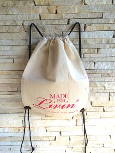 EcoBag - Made for Livin' Summer Handbags, Drawstring Backpack, Trending Outfits, Unique Jewelry, Handmade Gifts, Etsy, Vintage, Design, Products