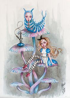Alice and the caterpillar by BlackFurya on DeviantArt