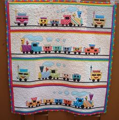 Just Quilts: Choo Choo Train Quilt