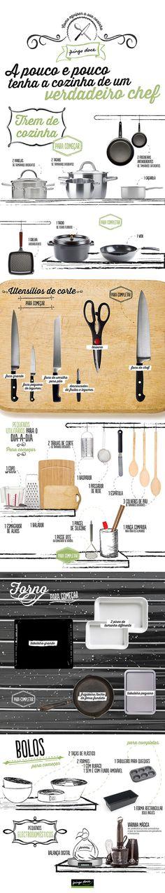 Infografias Pingo Doce: Como equipar a cozinha