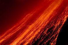 Volcanic lava on Areanl Volcano Costa Rica