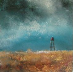 The Water Tower - Acrylic on canvas (stretched canvas on a frame)