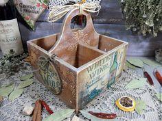 "Купить ""Винный погребок"" Короб подставка - короб, короб для хранения, короб для кухни, короб для специй"