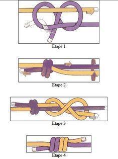 Schließknoten für Kord oder Garn – Christa Schmid Closing knot for cord or yarn – Christa Schmid – Related posts: マリンノット- Straw Weaving Instructions Paracord Knots, Rope Knots, Macrame Knots, Micro Macrame, Jewelry Knots, Bracelet Knots, Jewelry Crafts, Diy Bracelet, Beaded Bracelet