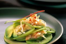 Tart salad of kiwi with crab - Recipes Easy & Healthy Seafood Recipes, Appetizer Recipes, Cooking Recipes, Appetizers, Kiwi Recipes, Healthy Recipes, Best Salads Ever, Grilled Peach Salad, Recipes