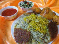 persian food باقالی پلو با مرغ