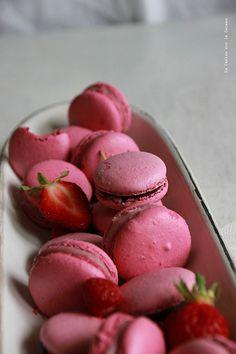 macarons044 Macarons choco-framboise & vanille-fraise