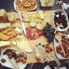 casual charcuterie with friends